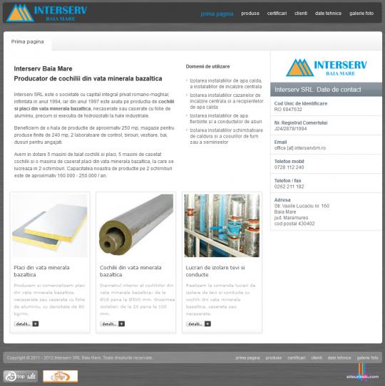 Interserv SRL - Producator de cochilii din vata minerala bazaltica